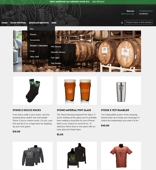 Shop Stonebrewing (B2C)