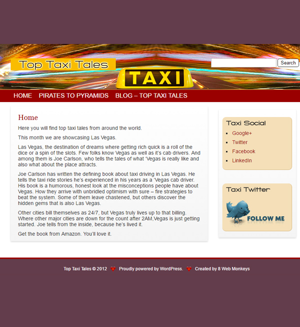 Top Taxi Tales - WordPress